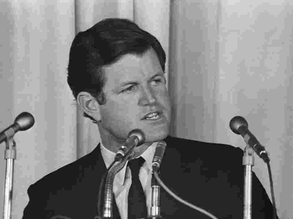 Democratic Sen. Edward Kennedy called for an unconditional halt to bombing on North Vietnam in an August 1968 speech in Worcester, Mass.