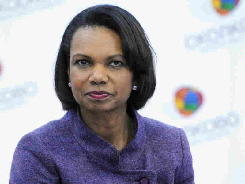 Former Secretary of State Condoleezza Rice visited the Skolkovo school in Moscow in March 2011.