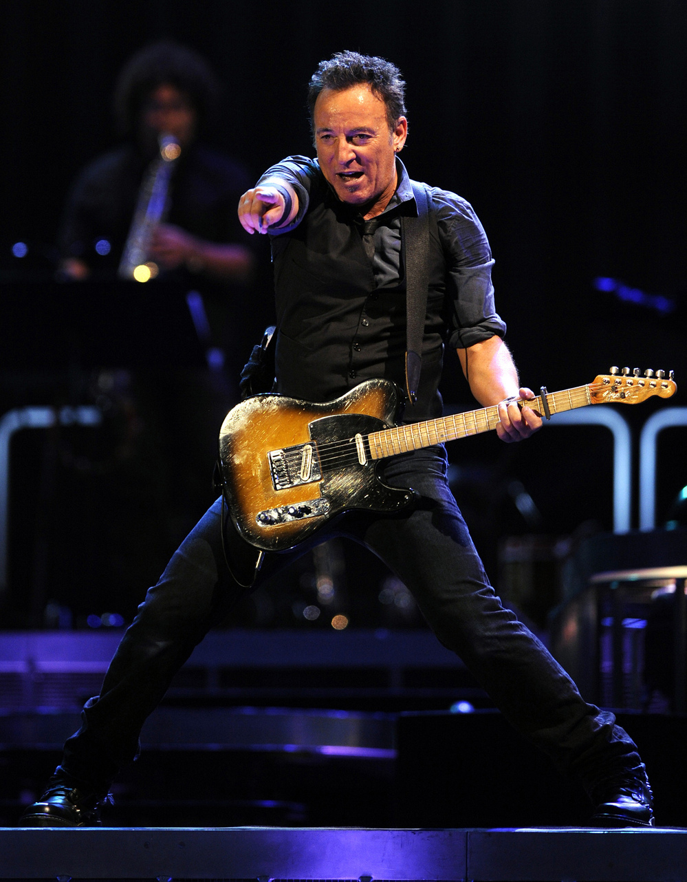 Bruce Springsteen and The E Street Band perform, on May 13, 2012 in Sevilla, Spain.