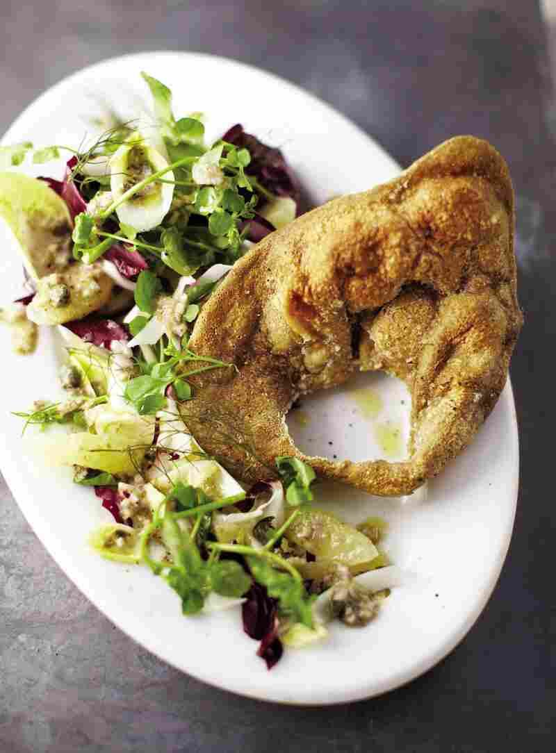 Fried Pig's Ear Salad