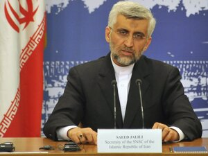 Iran's chief nuclear negotiator Saeed Jalili speaks at a press conference in Moscow on June 19 after taking part in the talks on his nation's nuclear program. Jalili said Iran sought recognition of its right to enrich uranium to 'all levels' in any future deal that could also include foreign shipments of high-grade fuel.