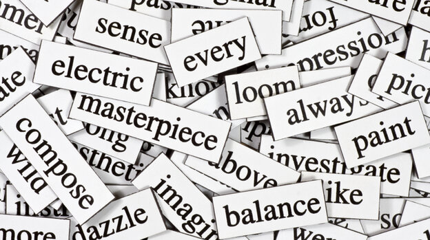 A jumble of words.