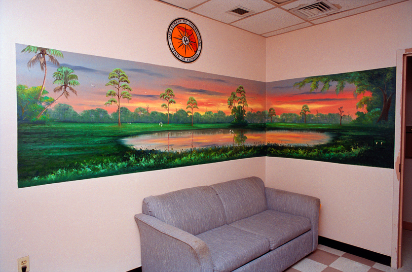 Examples of Al Black's prison murals from the book The Highwaymen Murals: Al Black's Concrete Dreams, University Press of Florida, 2009