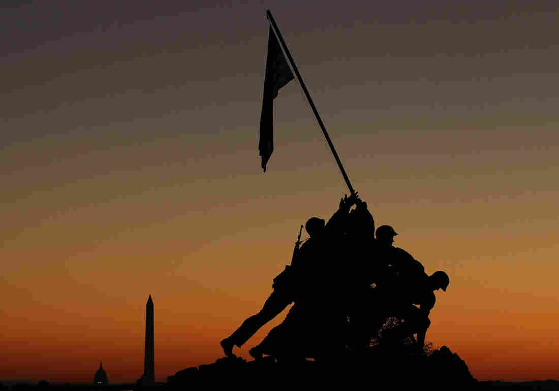 The Iwo Jima Memorial, on the Virginia side of the Potomac River overlooking Washington, D.C., is one of many capital landmarks that do double duty as crime scenes in the novels of author Mike Lawson.