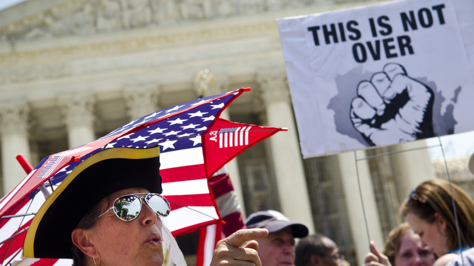 Tea Party activists say the Supreme Court's decision to uphold the Affordable Care Act could re-energize their movement, just in time for this fall's election. (Getty Images)