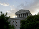 Sunrise at the Supreme Court on Thursday, hours before the justices announced their 5-4 ruling to uphold President Obama's health care law.