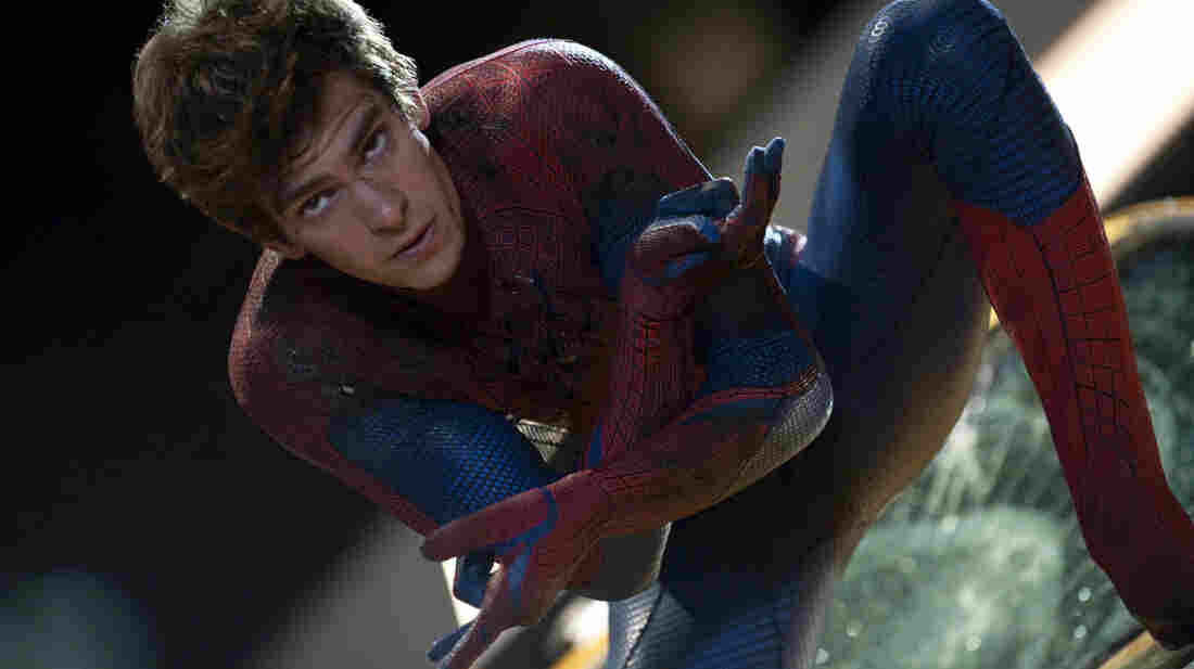 Andrew Garfield stars in The Amazing Spider-Man, in which the nerdy, web-slinging superhero gets an overhauled origin story.