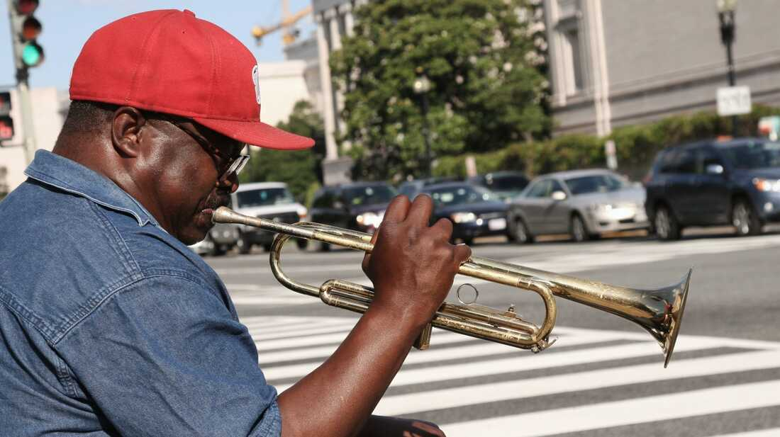 A Lone Trumpeter Serenades The National Mall