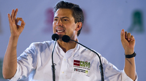 Mexican presidential candidate Enrique Pena Nieto is heavily favored in Sunday's election.
