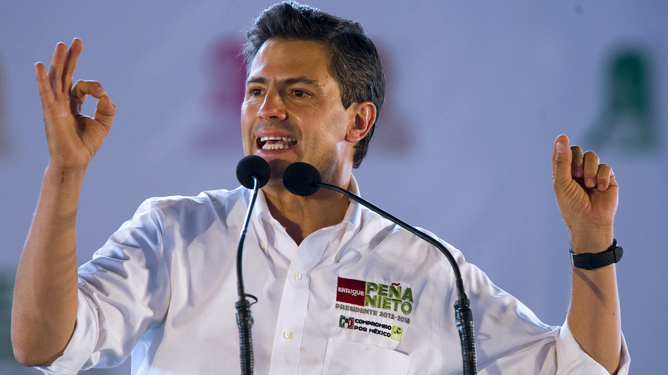 Mexican presidential candidate Enrique Pena Nieto is heavily favored in Sunday's election. (AFP/Getty Images)