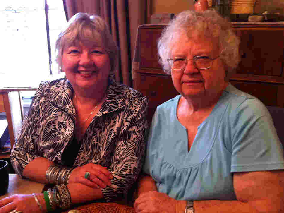 Vicky Young (left) with her mother. Young developed kidney disease after donating one of her kidneys to a friend seven years ago.