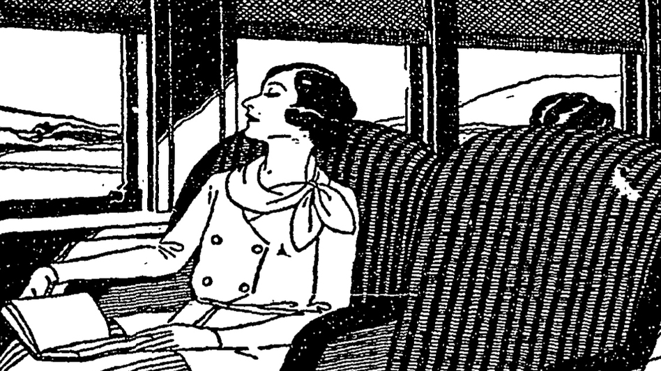 A series of 1931 newspaper ads touted the latest comfort for rail passengers on the B&O's Columbian line. (Baltimore & Ohio Railroad ad)