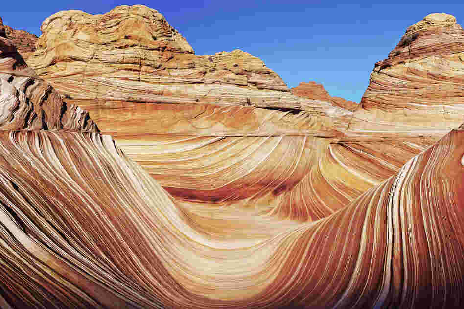 """I was one of the lucky few that have seen this amazing rock formation; only 20 permits are issued a day, and there is an actual lottery to win the permit. This rock formation is Navajo Sandstone which has been created by the natural elements over eons. It is one of the most beautiful things that I have ever seen, and I felt privileged that I had the chance to do so."""