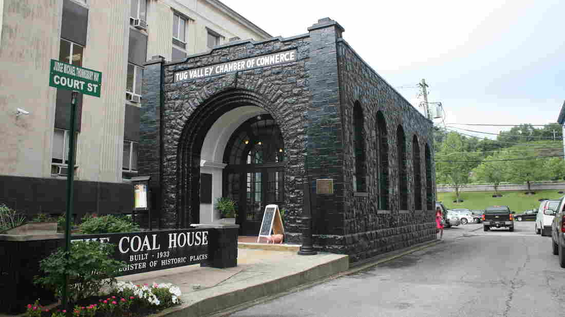 The Tug Valley Chamber of Commerce in Williamson, W.Va., is also home to The Coal House, built entirely of coal in 1933.