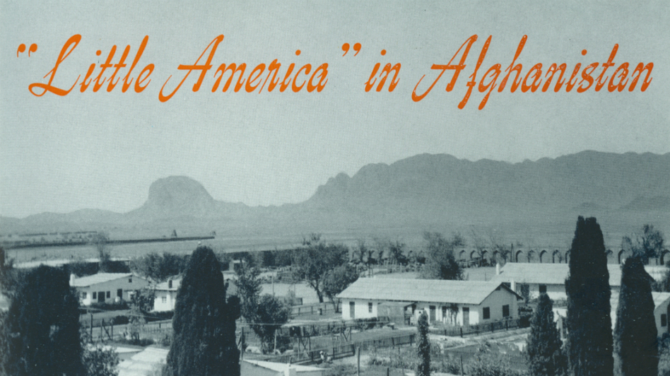 "In the early 1950s, Americans working on a huge engineering project in southern Afghanistan lived in a self-contained community. It looked like a piece of America dropped into the Afghan desert and was known as ""Little America."" (Courtesy of Rajiv Chandrasekaran via Foreign Policy)"