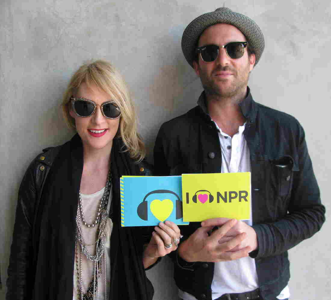 Emily Haines (l) and James Shaw (r) of Metric at NPR West.