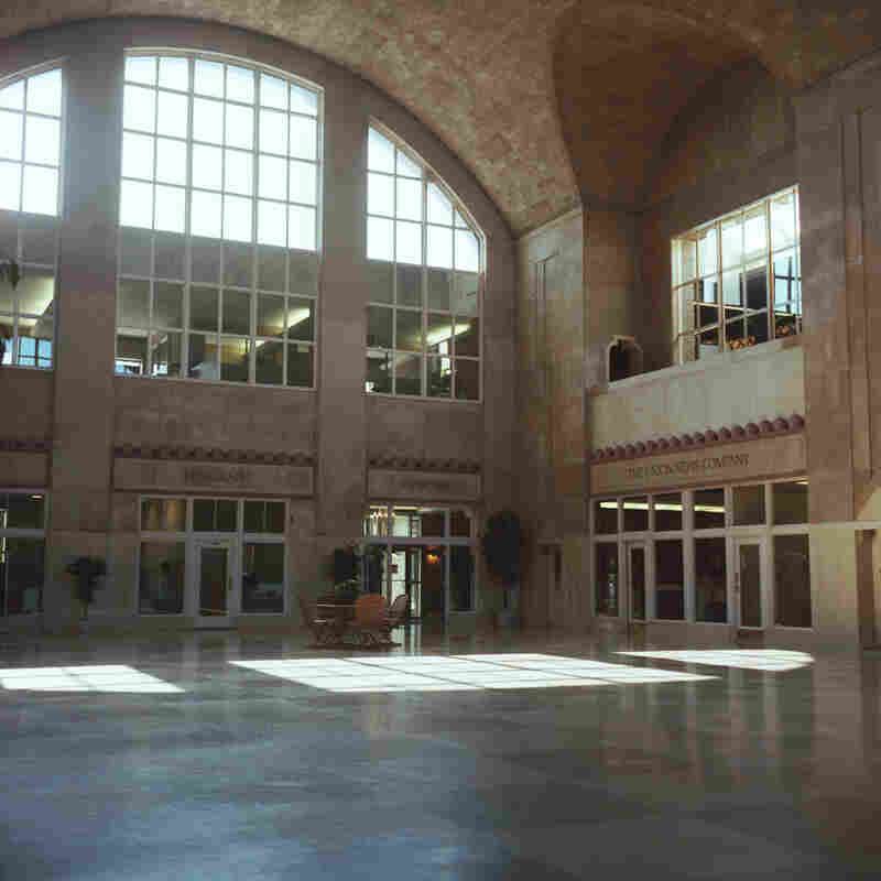 The lobby of South Bend's old railroad station has been fully refurbished as part of the Union Station Technology Center. Buttigieg says South Bend has an edge over other tech cities because of the infrastructure left over from Studebaker.