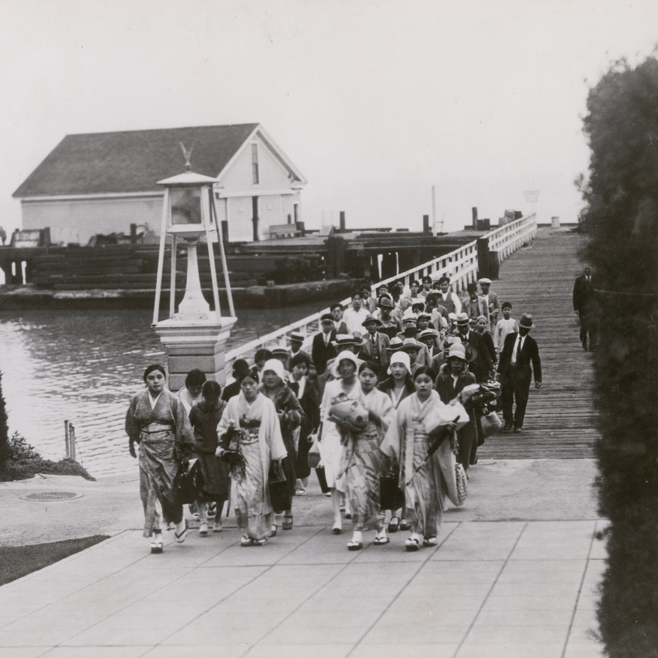 Immigrants arriving at Angel Island in 1931.