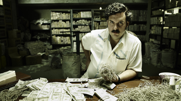 The TV series Pablo Escobar: Boss of Evil, starring Andres Parra as the eponymous Colombian drug lord, is revisiting a dark period in the country's history. (Caracol Television )