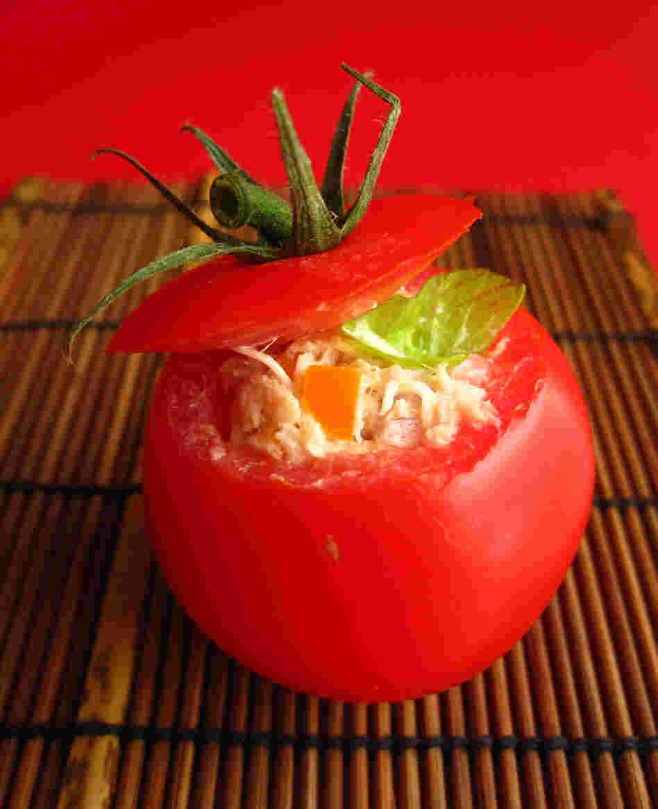 Spicy Tuna Stuffed Tomatoes