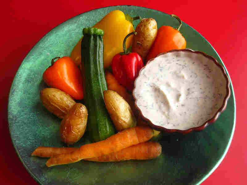 Vegetables And Yogurt Dip