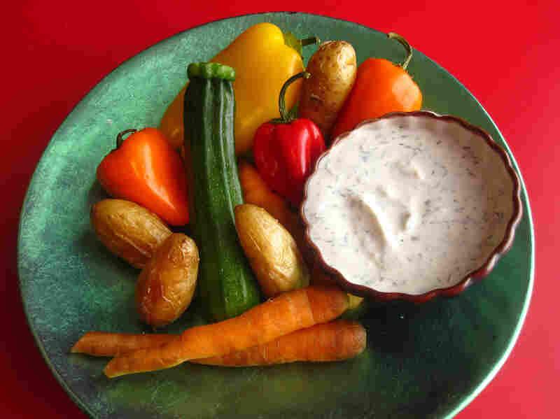 Vegetables And Yogurt Dip