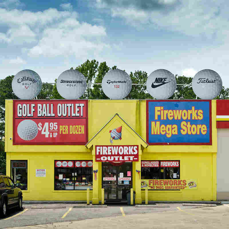 Golf Ball Outlet and Fireworks Mega Store. Hardeeville, S.C. We did a double-take when we came across this store, a serendipitous find on our way from Savannah, Ga., to Charleston, S.C.