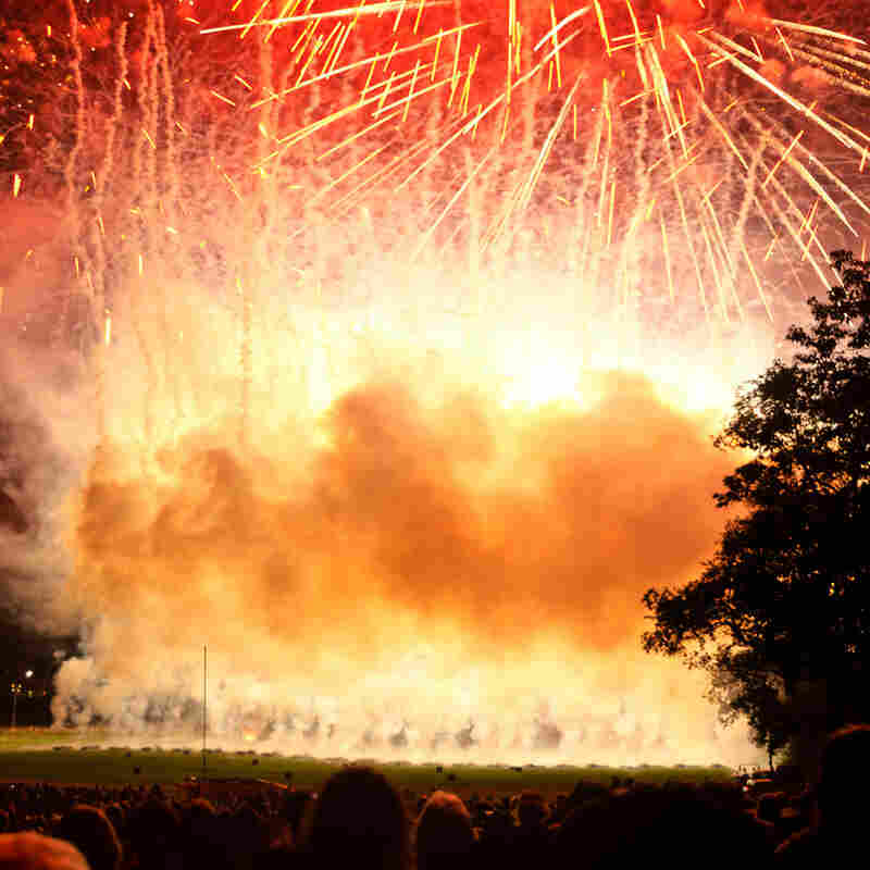 Things That Go Boom In The Night. State College, Pa. A local volunteer group has held this spectacular fireworks display on the campus of Penn State University for over a decade. ... I purchased tickets for my son and me to sit in the unobstructed VIP section for the 2011 show. ... We were sitting so close that we could literally feel the pressure of the explosions against our chests.