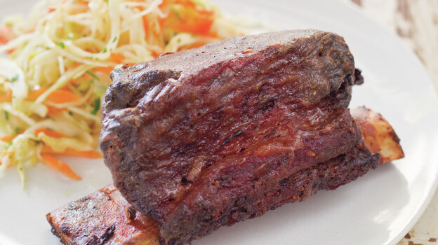 Grilled short ribs are a delicious addition to any summer barbecue. (America's Test Kitchen)