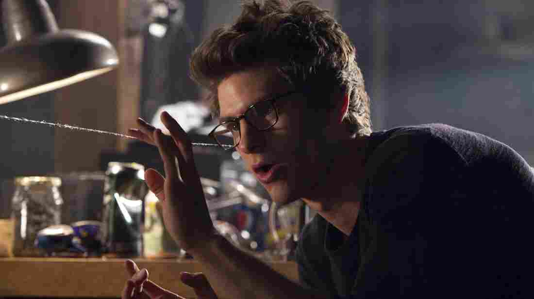Andrew Garfield as Peter Parker in The Amazing Spider-Man.