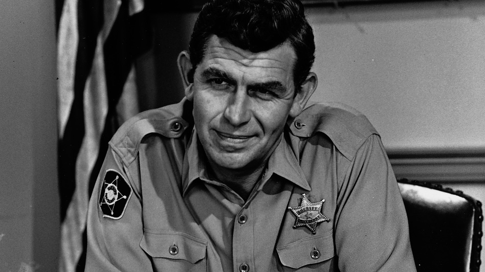 Actor Andy Griffith was best known for his role as the gentle, small-town sheriff of Mayberry on the 1960s sitcom The Andy Griffith Show. He died Tuesday at 86.  (Getty Images)