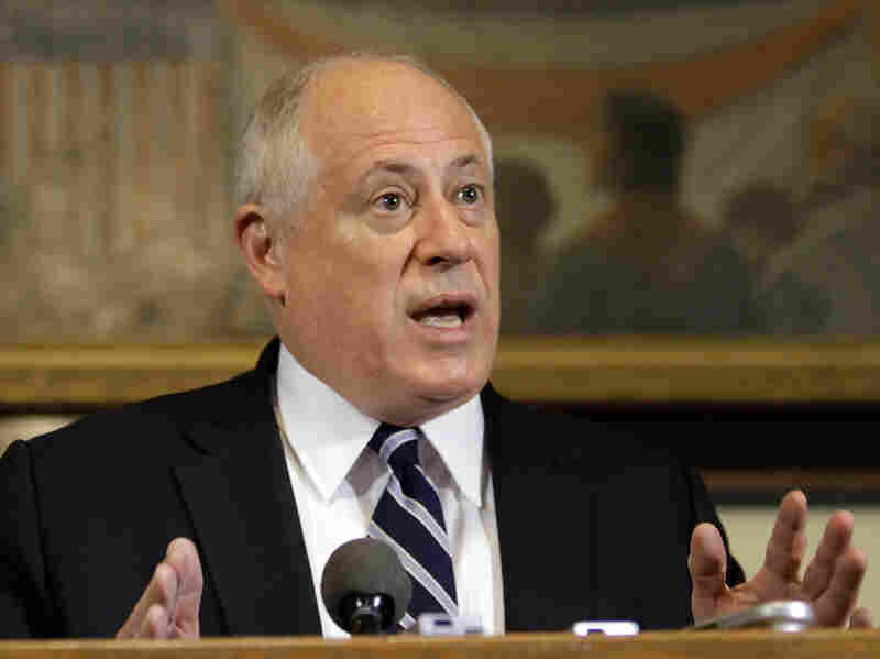 Illinois Gov. Pat Quinn says the pension system is putting a grip on the state's budget. As a result, other services may lose funding.