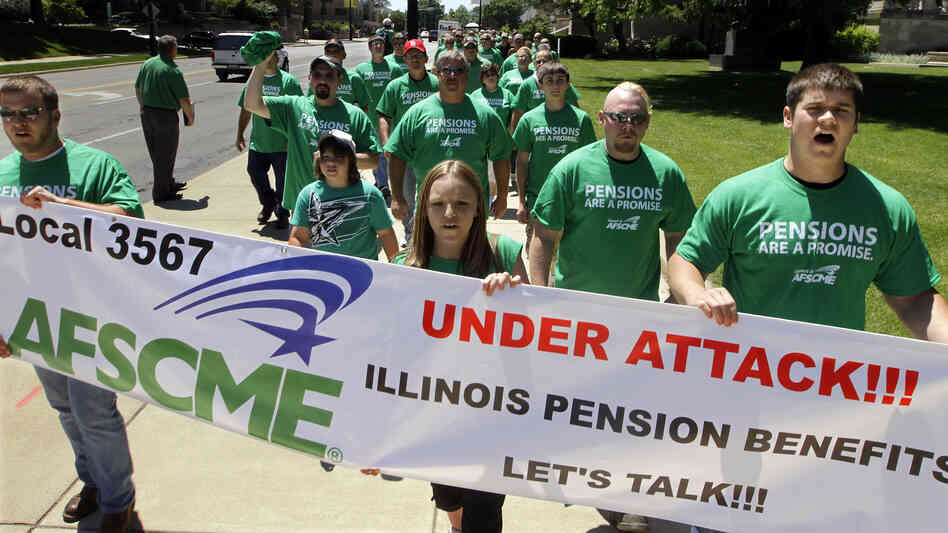 Illinois pensions have amounted to billions that the state can't readily a