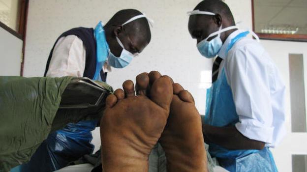 Joseph Ochieng, 18, gets circumcised at the Siaya General Hospital in western Kenya. (NPR)