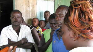 Outreach workers are trying to persuade local fishermen to get circumcised.