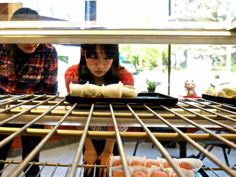 The Umai Do Japanese Sweets bakery is popular with local Japanese Americans and Japaese tourists. Owner Art Oki is also working to grow his customer base beyond people of Japanese descent.