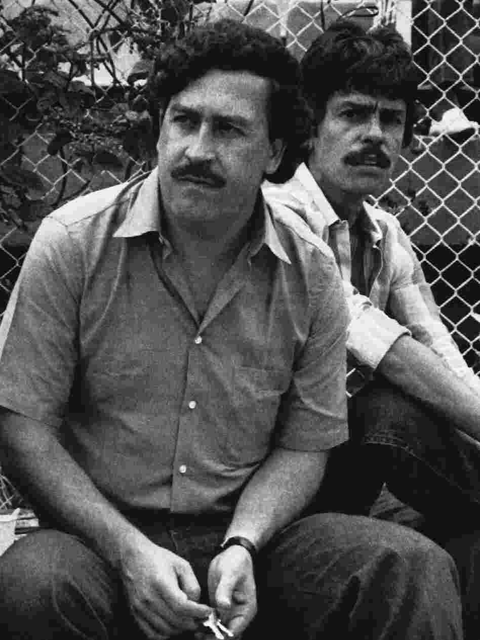 Escobar, the Medellin drug cartel boss, watches a soccer game in Medellin, Colombia, in 1983. He was gunned down in 1993 after a long manhunt and more than a decade of ruling Colombia through terror.