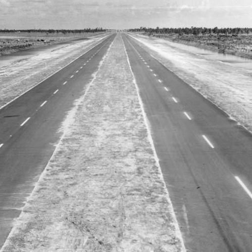 A Florida highway, circa 1950-1960