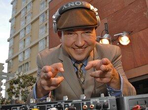 Raul Campos hosts a Latin Alternative show on KCRW in Santa Monica, Calif.