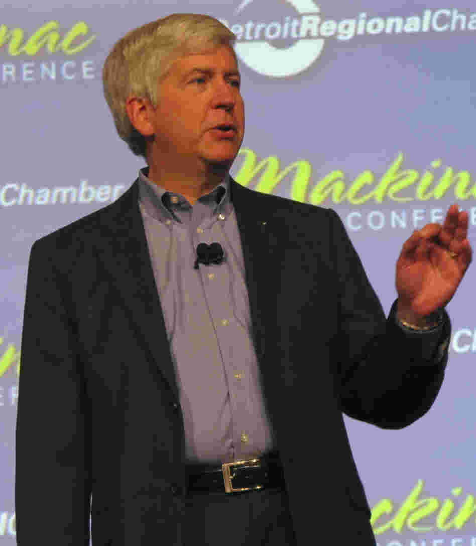 Michigan Gov. Rick Snyder vetoed voter ID legislation on Tuesday.