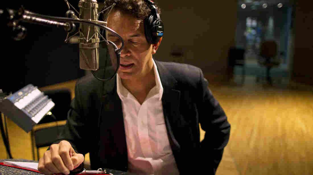 Brian Stokes Mitchell records A Lincoln Portrait at NPR's Studio 4A in April.