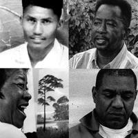 The Highwaymen are a group of African-American artists based in Fort Pierce, Fla., who began painting in the 1960s. (Clockwise from top left: Harold Newton, James Gibson, Mary Ann Carroll and Al Black are just a few.)
