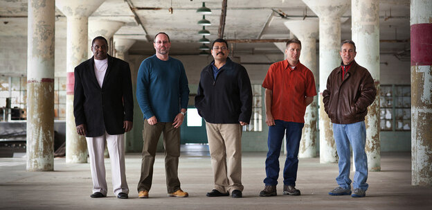 In Life After Murder, journalist Nancy Mullane follows the stories of five convicted murderers (from left) Jesse Reed, Don Cronk, Ed Ramirez, Phillip Seiler and Rich Rael.