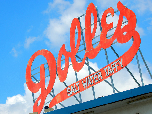The Dolle's sign is part of the magic of the boardwalk at Rehoboth Beach in Delaware. (Flickr)