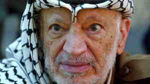 Palestinian leader Yasser Arafat in October 2004, a month before he died.