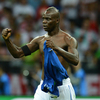 Italian forward Mario Balotelli celebrates after scoring the second goal during Italy's Euro 2012 football championships semifinal match against Germany, June 28, at the National Stadium in Warsaw.