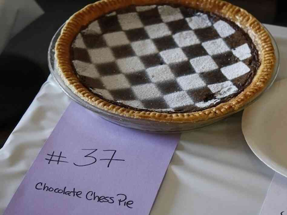A chocolate chess pie from the 2011 contest.