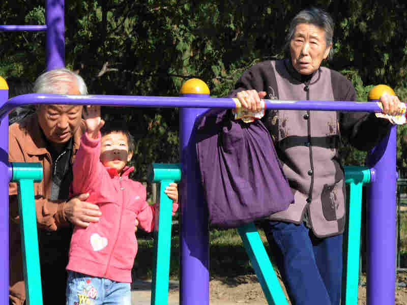 Young and old exercise at the Temple of Heaven park in Beijing in October. Experts say China's health care costs will be difficult to fund due to the population imbalance.
