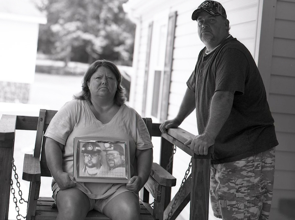 Patty and Gary Quarles lost their son, Gary Wayne Quarles, in the explosion at Upper Big Branch mine. Their son's post-mortem diagnosis indicated he had black lung, a puzzling finding since he was only 33. (David Deal for NPR)