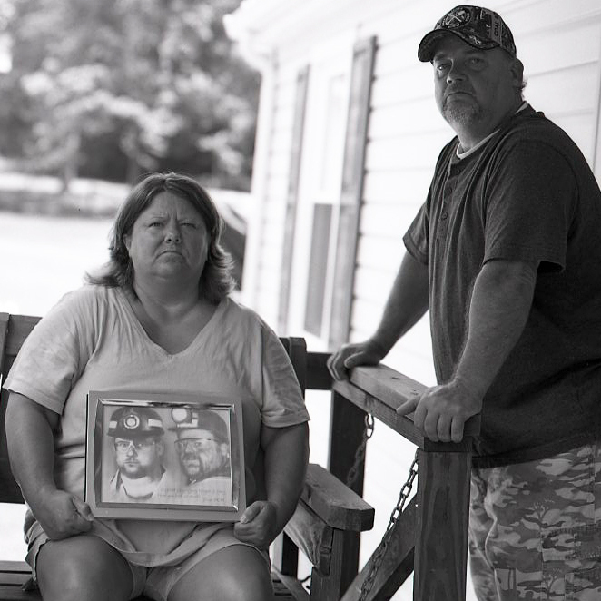 Patty and Gary Quarles lost their son, Gary Wayne Quarles, in the explosion at Upper Big Branch mine. Their son's post-mortem diagnosis indicated he had black lung, a puzzling finding since he was only 33.